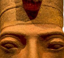 Egyptian head carving in stone Sticker