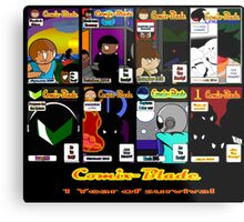 Comix-Blade: Monthly covers 1-8! Year 1 Metal Print