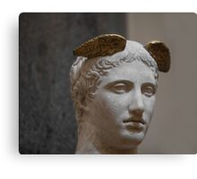Mercury head stone sculpture Canvas Print