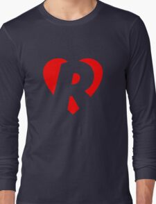 I love R - Heart R - Heart with letter R Long Sleeve T-Shirt