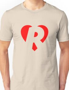 I love R - Heart R - Heart with letter R Unisex T-Shirt