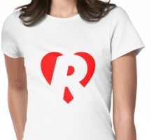 I love R - Heart R - Heart with letter R Womens Fitted T-Shirt