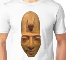Egyptian head carving in stone Unisex T-Shirt