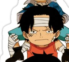 luffy sabo and ace Sticker