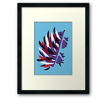 Colorful Abstract Hedgehog Framed Print