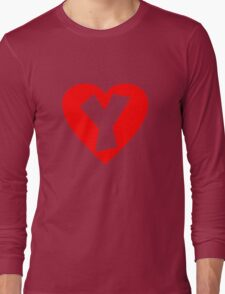 I love Y- Heart Y - Heart with letter Y Long Sleeve T-Shirt