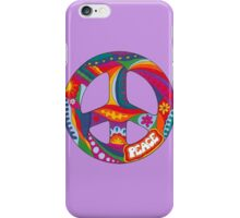 Psychedelic Peace Symbol iPhone Case/Skin