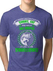 Funny fishing Tri-blend T-Shirt