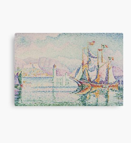 Paul Signac - Antibes. Morning . Provence . French  Seascape Canvas Print
