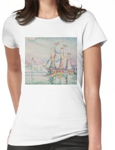 Paul Signac - Antibes. Morning . Provence . French  Seascape Womens Fitted T-Shirt