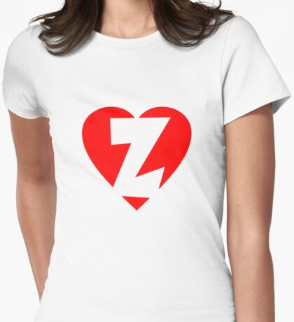 I love Z - Heart Z - Heart with letter Z Womens Fitted T-Shirt