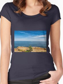 Scenic Maine Coastline Women's Fitted Scoop T-Shirt