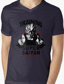 Super Saiyan Training Mens V-Neck T-Shirt