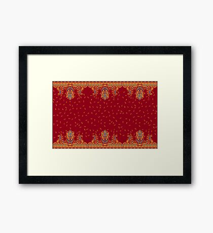 Beautiful ornate border paisley traditional style. Seamless eastern chic tradition   design Framed Print