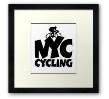 NYC Cycling Framed Print