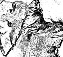 DEATH, Death on the Pale Horse, Gustave Doré, (1865), Revelations, Seven Seals, BLACK Sticker
