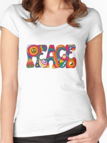 Psychedelic Peace Women's Fitted Scoop T-Shirt