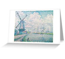 Paul Signac - Canal of Overschie 1906 .Seascape Greeting Card