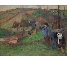 Paul Gauguin - Landscape of Brittany  Photographic Print