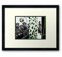 Thoughts of Green before going back to the Black and White Front Framed Print
