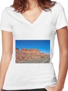 Grand Entrance Women's Fitted V-Neck T-Shirt