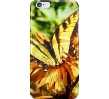 Tiger Swallowtail on Yellow Wildflower iPhone Case/Skin