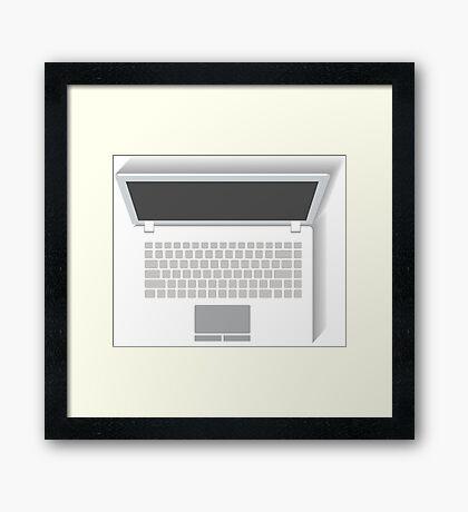 White Laptop Framed Print
