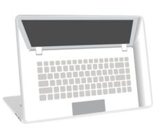 White Laptop Laptop Skin