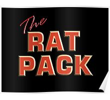 The Rat Pack, Singers, Music, Crooners, Frank Sinatra, Sammy Davis, Dean Martin. STACK, on Black Poster