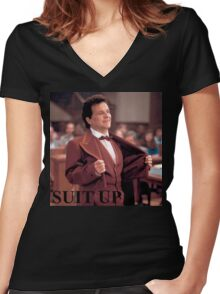 My cousin Vinny - SUIT UP Women's Fitted V-Neck T-Shirt
