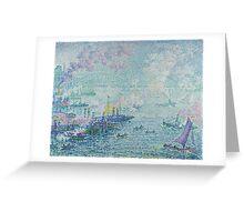 Paul Signac - The Port of Rotterdam . Netherlands.  Seascape  Greeting Card