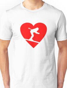 I love Skiing Heart Unisex T-Shirt