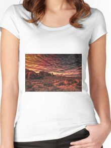 Arches Abstract Women's Fitted Scoop T-Shirt