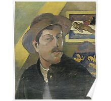 Paul Gauguin - Self-portrait with a hat 1893 - 1894 Poster