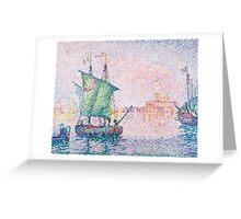 Paul Signac - Venice, The Pink Cloud,  Seascape  Greeting Card