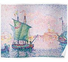 Paul Signac - Venice, The Pink Cloud,  Seascape  Poster
