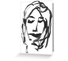 GIRL ONE Greeting Card