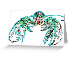 X-ray lobster PNG Greeting Card