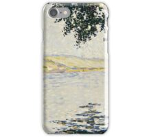 Paul Signac - View of the Seine at Herblay 1889 iPhone Case/Skin