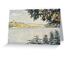 Paul Signac - View of the Seine at Herblay 1889 Greeting Card