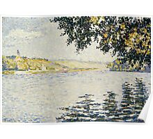 Paul Signac - View of the Seine at Herblay 1889 Poster