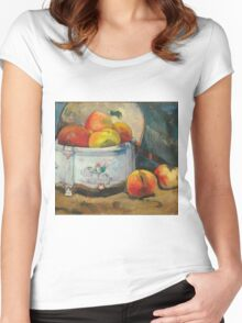 Paul Gauguin - Still Life with Peaches  1889 Women's Fitted Scoop T-Shirt