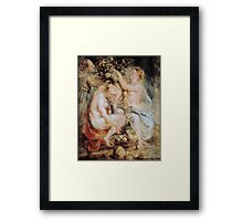 Peter Paul Rubens - Ceres and Two Nymphs with a Cornucopia Framed Print
