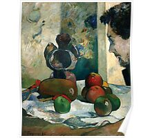 Paul Gauguin - Still Life with Profile of Laval 1886 Poster