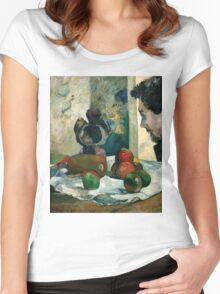 Paul Gauguin - Still Life with Profile of Laval Women's Fitted Scoop T-Shirt