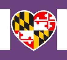 Maryland Hon Purple Sticker