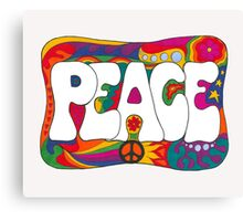 Psychedelic Peace and Love Canvas Print
