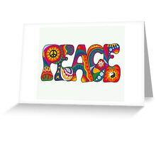 Psychedelic Peace Greeting Card