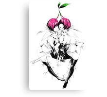 Cherry girls Canvas Print
