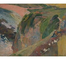 Paul Gauguin - The Flageolet Player on the Cliff  Photographic Print